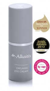 Dr Alkaitis Organic eye cream with award